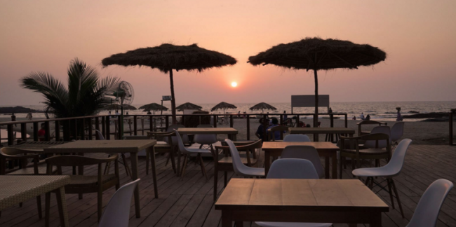 Sunset at Antares, ground Level. Image Courtesy: Zomato