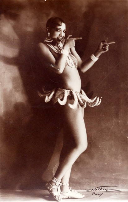 "Josephine Baker in Banana Skirt from the Folies Bergère production ""Un Vent de Folie""