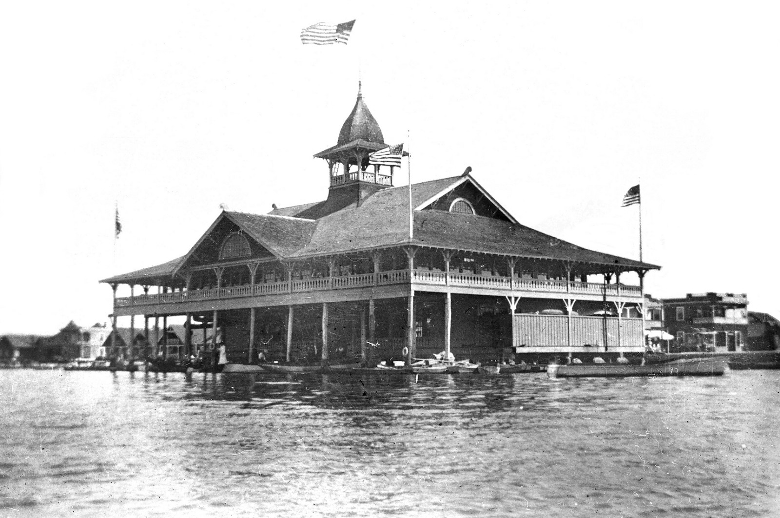 Balboa Pavilion in the early 1900s / Photo courtesy Orange County Archives.
