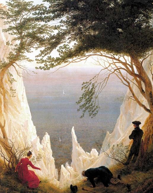 Friedrich, Chalk Cliffs on Rügen, 90.5 x 71 cm, Museum Oskar Reinhart, 1818 | © The Herald/WikiCommons