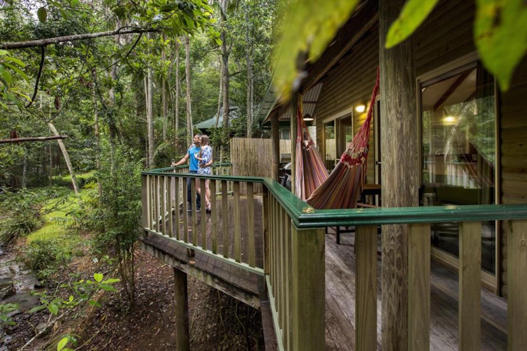 A Deck at Narrows Escape Rainforest Retreat / Courtesy Narrows Escape