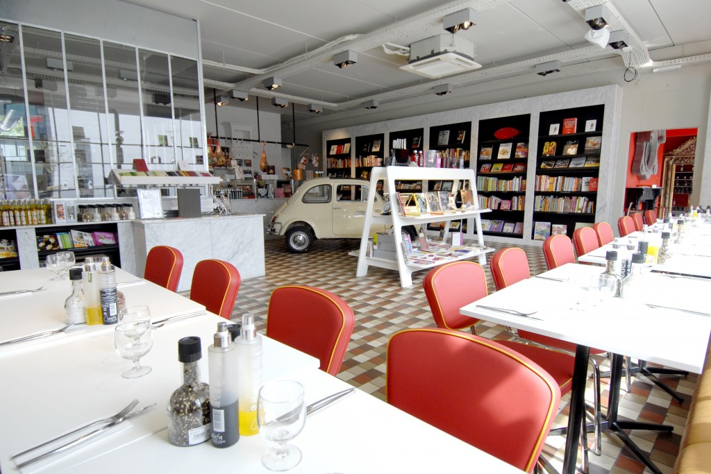 Reading and dining go hand in hand at Cook & Book | Courtesy of Cook & Book