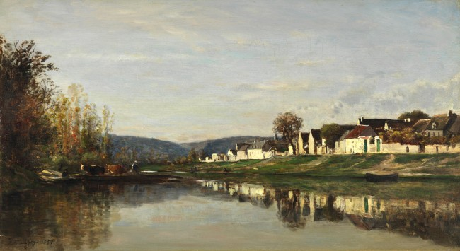 Charles Francois Daubigny, 'The Village of Gloton', 1857, oil on panel | Courtesy San Francisco Fine Arts Museum, Mildred Anna Williams Collection