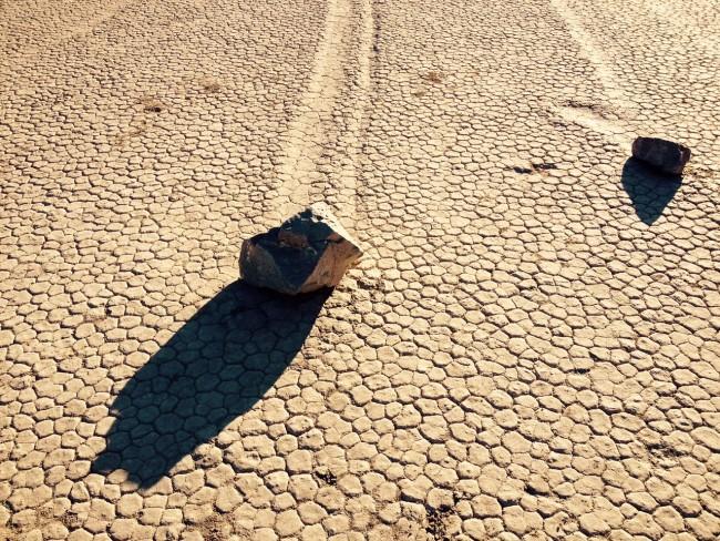 Traveling Boulders At Racetrack Playa, ©Gigi Chung