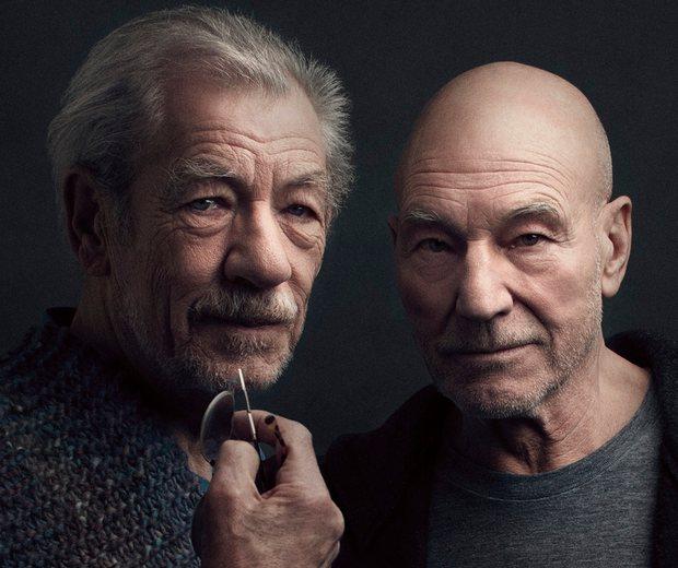 Ian McKellan and Patrick Stewart in No Man's Land at Wyndham's Theatre | © Luke Fontana