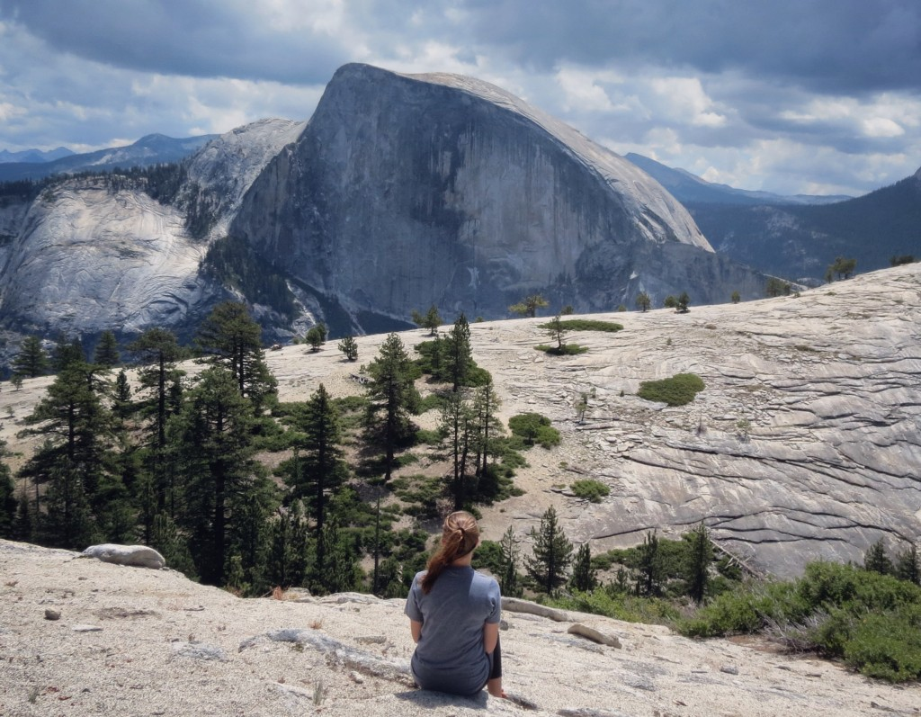 Looking at North Dome and Half Dome   © Addie Gottwald