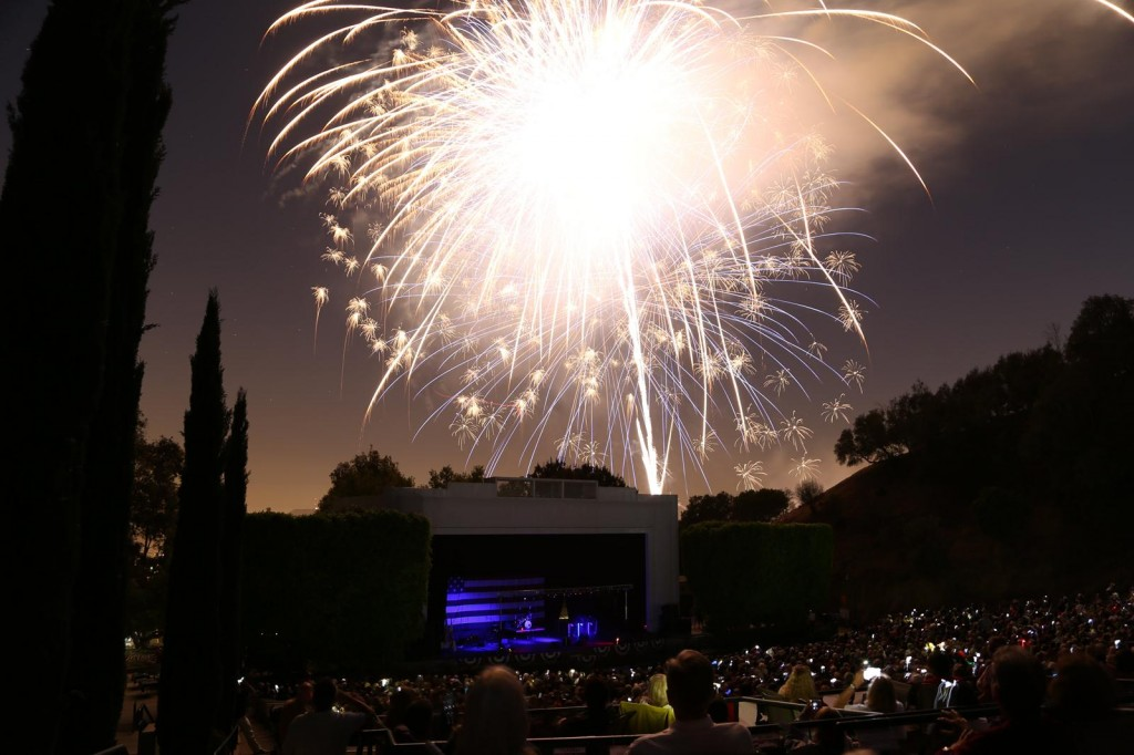 Fireworks over the Starlight Bowl|Courtesy of City of Burbank Parks and Recreation Department