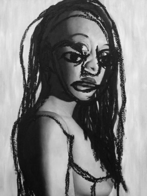 Johnny Thornton, Person: Day # 8,997, Oil on Canvas Board | © Johnny Thornton