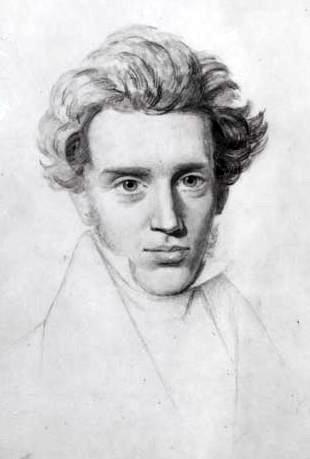 Sketch of Søren Kierkegaard, circa 1840