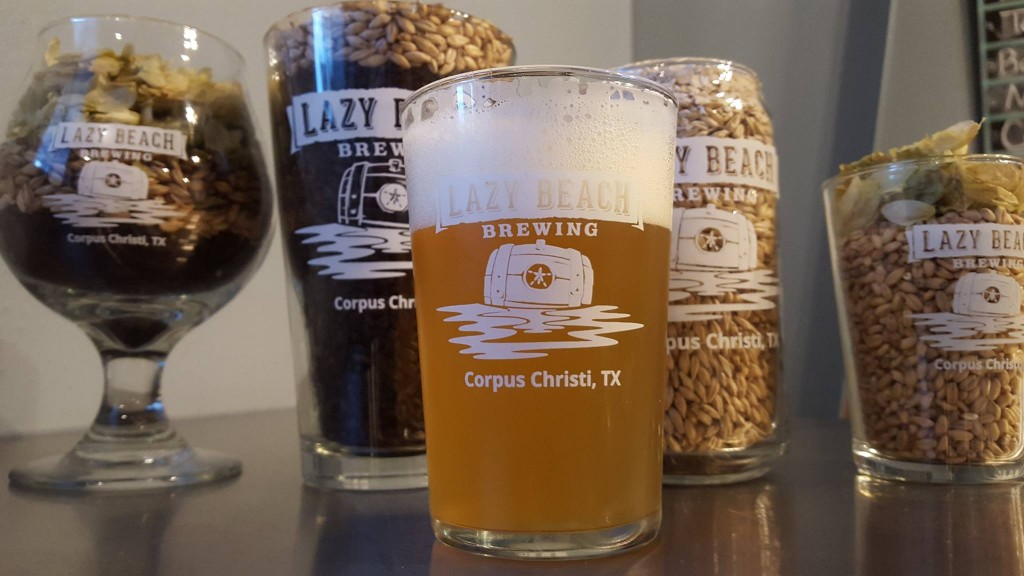 Tasting Room Glassware | Courtesy of Lazy Beach Brewing