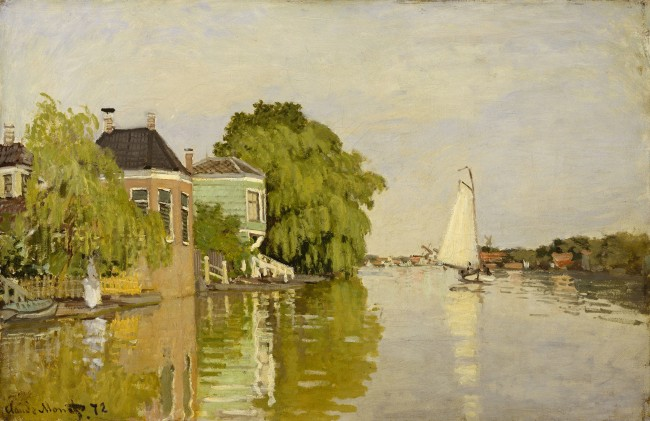 Claude Monet, 'Houses on the Achterzaan', 1871, oil on canvas | Courtesy The Metropolitan Museum of Art, New York, Robert Lehman Collection, 1975 (1975.1.196)