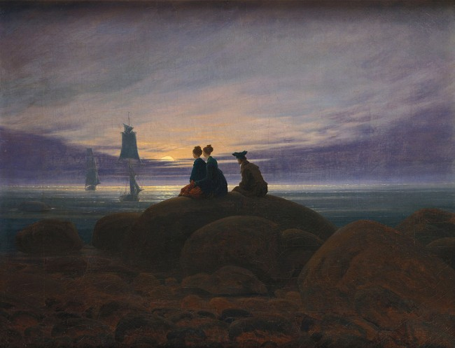 Friedrich, Moonrise over the Sea, 55 x 71 cm, Alte Nationalgalerie, 1822 | © Dcoetzee/WikiCommons