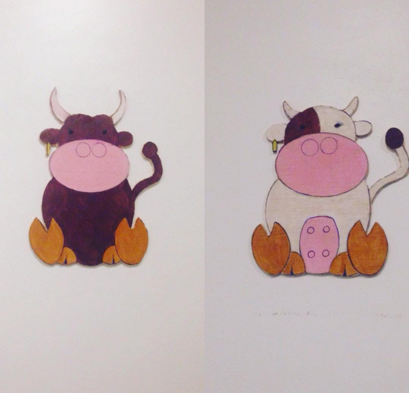 Bull & Cow Toilet Sign | © @nyolet