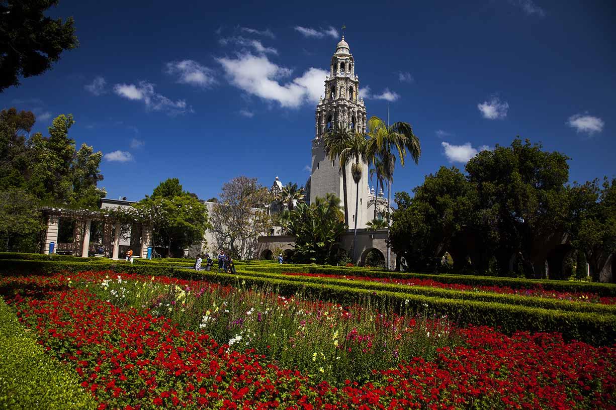 Alcazar Garden and the California Tower © Richard Benton