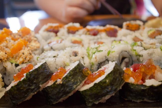Sushi Rolls at Kiku Sushi © Quinn Dombrowski/Flickr