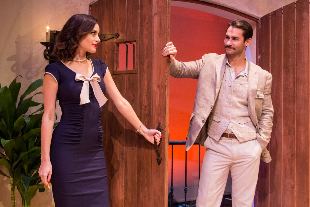 Jackie Seiden and Ty Mayberry in Scott and Hem at the Falcon Theatre © Jill Mamey