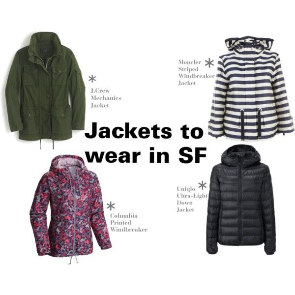 Examples of jackets to wear in San Francisco © Amanda Walker-Storey