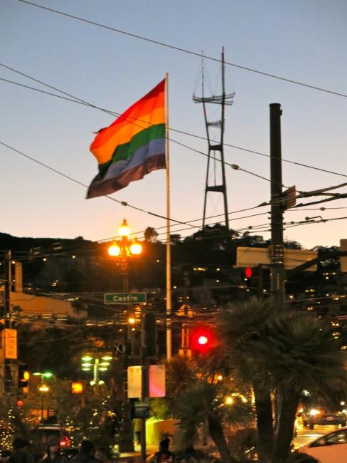 Castro Rainbow Flag Dusk © torbakhopper/flickr