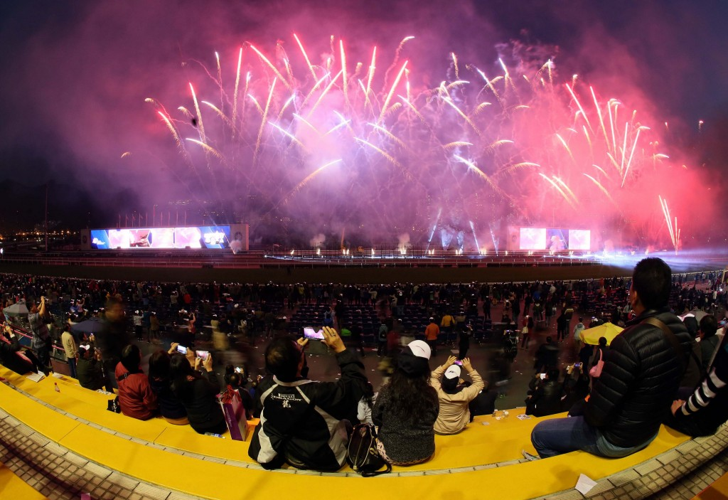 Fireworks display at the Hong Kong International Races   Courtesy of HKJC