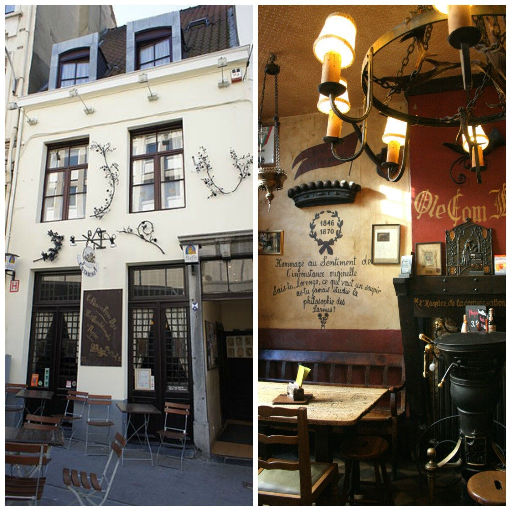 La Fleur en Papier Doré, one of Brussels' oldest pubs and former gathering place of Belgian surrealists | © byantovez / Wikimedia and Michel Wal / Wikimedia
