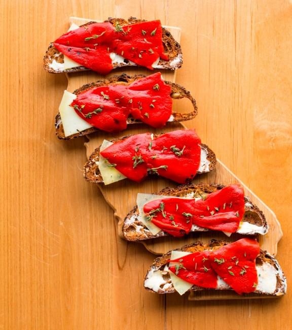 Picnic LA's Piquillo Pepper Toast. © Jesse Carmody