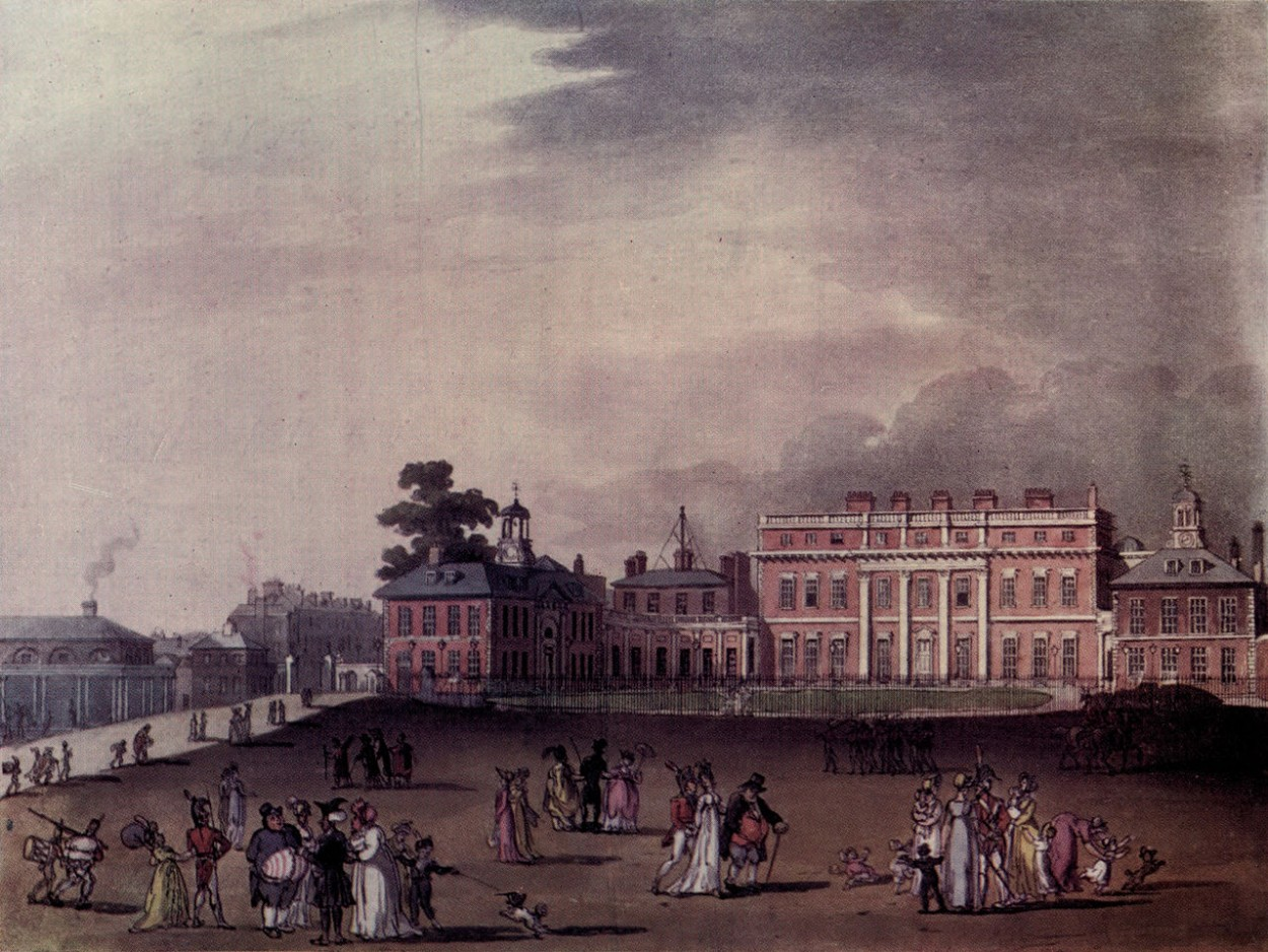 The Queen's Palace in 1810 | Thomas Rowlandson and Augustus Charles Pugin