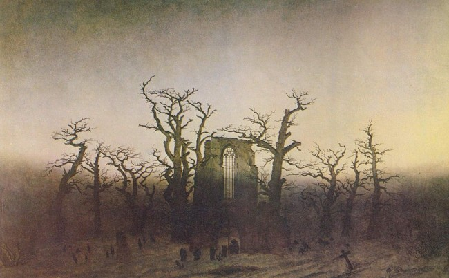 Friedrich, The Abbey in the Oakwood, 110 x 171.5 cm, Alte Nationalgalerie, 1809-10 | © Sitacuisses/WikiCommons
