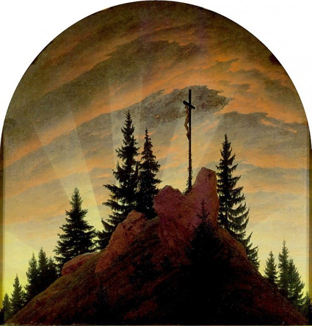 Friedrich, The Cross in the Mountains, 115 x 110.5 cm, Galerie Neue Meister, 1808 | © Botaurus/WikiCommons