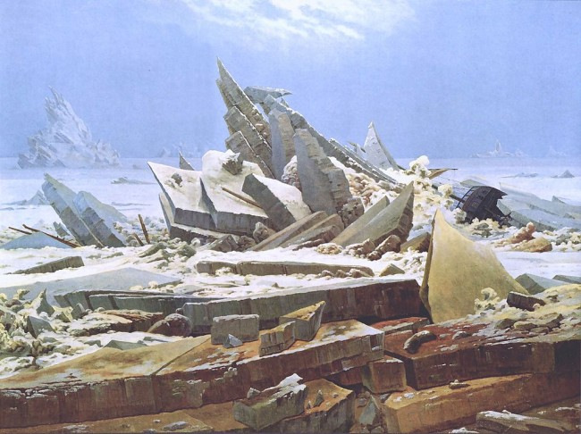 Friedrich, The Sea of Ice, 96.7 x 126.9 cm, Kunsthalle Hamburg, 1823-24 | © Mathiasrex/WikiCommons