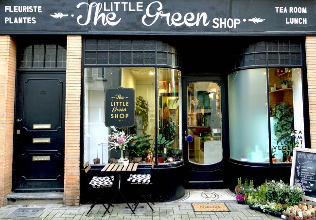 The store front of the tiny florist/eatery The Little Green Shop | Courtesy of The Little Green Shop