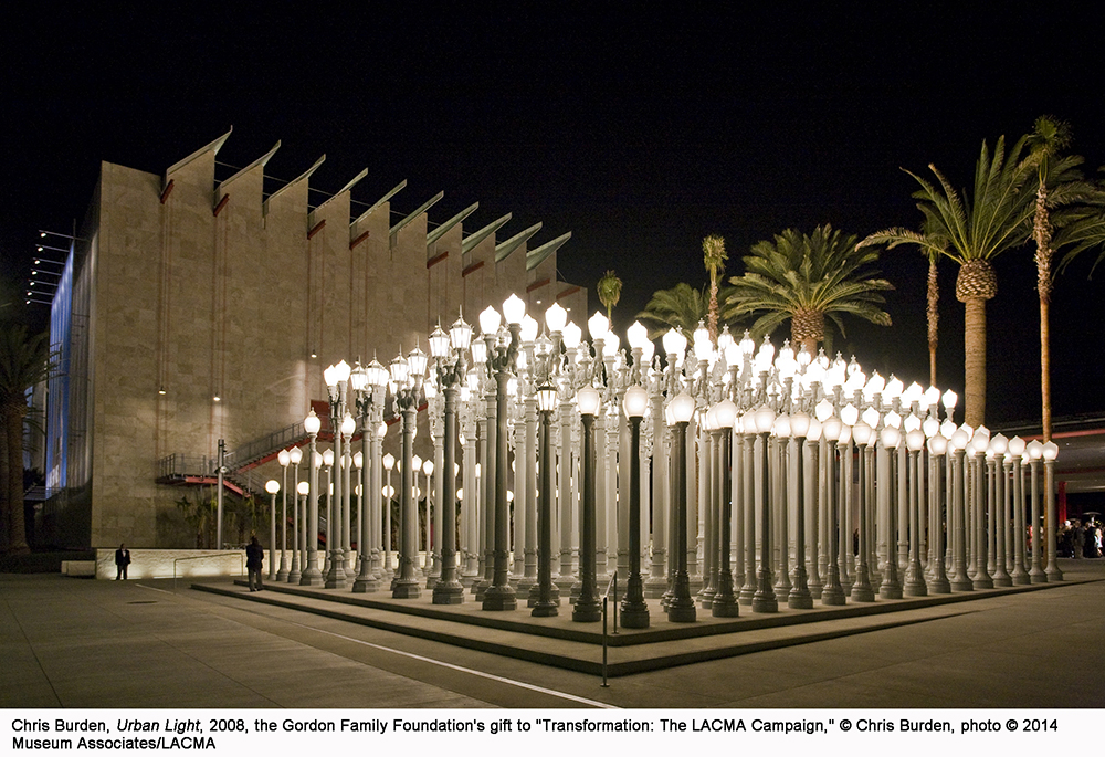 Urban Light Installation at LACMA _ Courtesy of LACMA