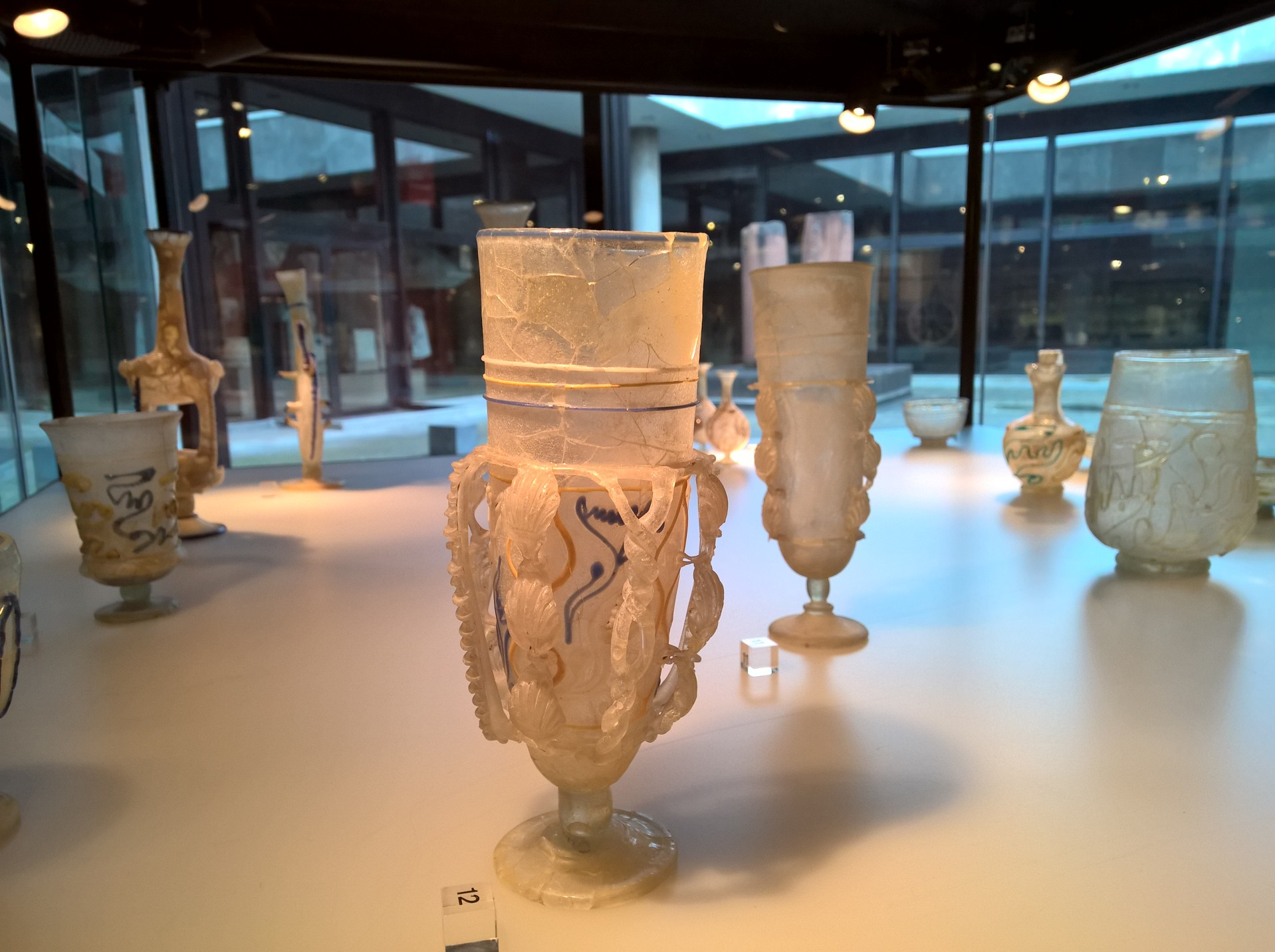 Roman glass at the Roman-Germanic Museum in Cologne