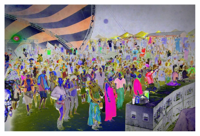 Sarah Anne Johnson Zombie Dance, 2015 photoshopped chromogenic print 28 x 42 in. Courtesy Stephen Bulger Gallery, Toronto; Galerie Division, Montreal; Julie Saul Gallery, New York