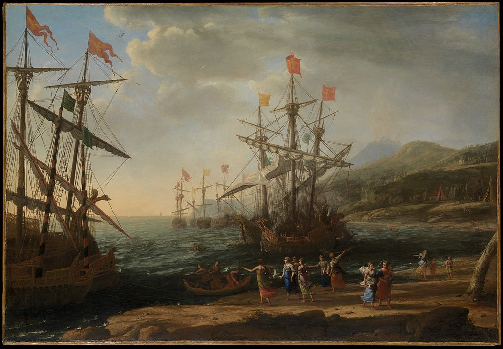 Claude Lorrain, The Trojan Women Setting Fire to Their Fleet, 1643 | © Metropolitan Museum of Art/WikiCommons
