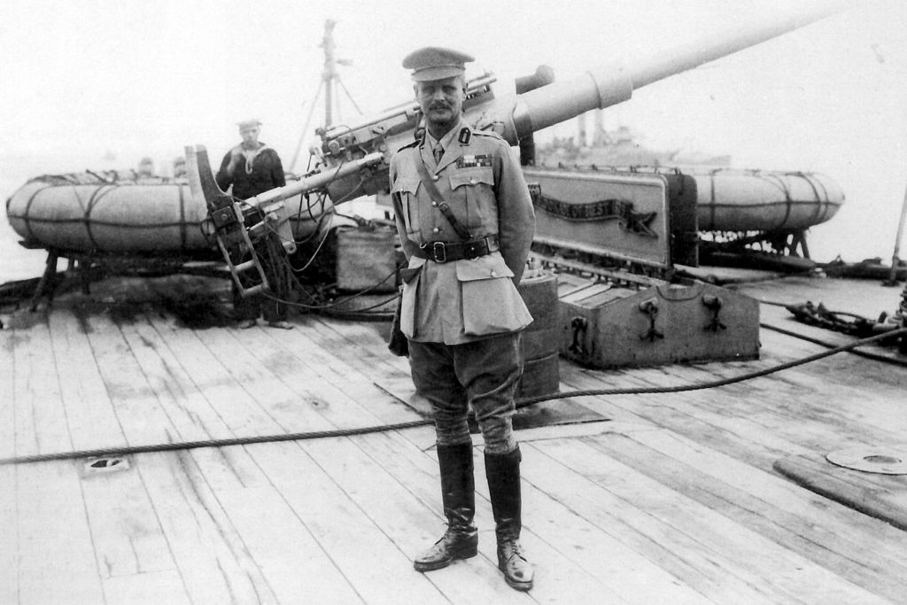 Lieutenant-General Sir William Birdwood, commander of the Australian and New Zealand Army Corps (ANZAC), aboard HMS Cornwallis during the Battle of Gallipoli, 1915. | © Australian War Memorial / WikiCommons
