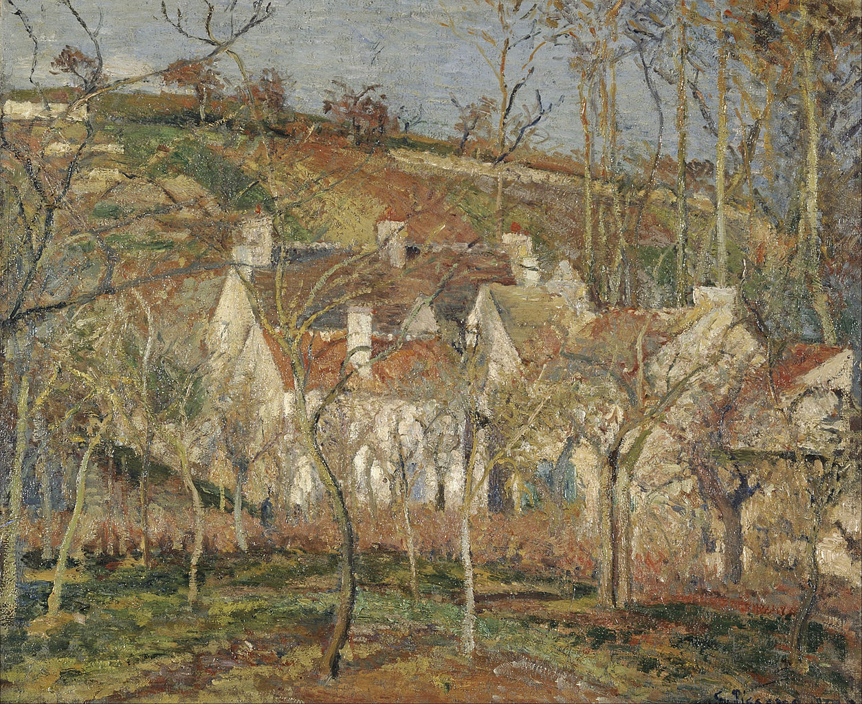 Camille Pissarro, Red Roofs, corner of a village, winter, 1877 | © Musée d'Orsay/WikiCommons