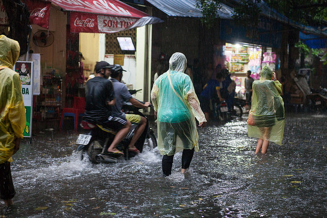 Monsoon downpour in Hanoi | © Greg Willis/Flickr