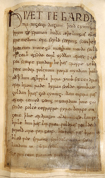 The beginning of the Beowulf in a digitalised image held at the British Library | British Library/Flickr