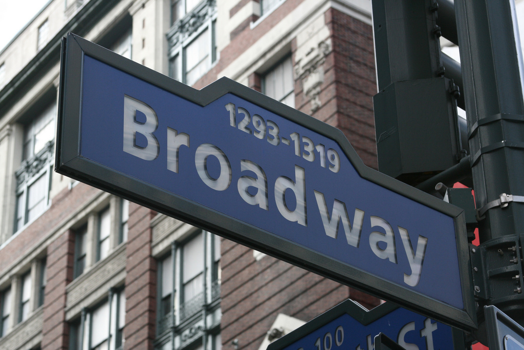 Broadway street sign | ©Pete Bellis /Flickr