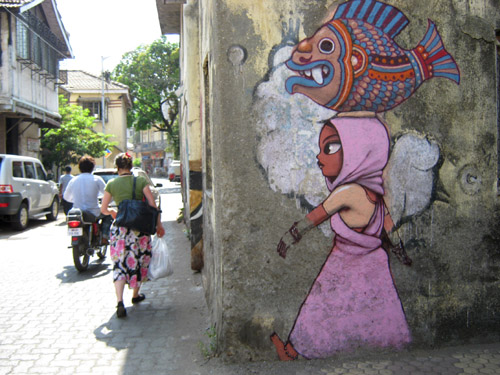 Ranwar village graffiti ©Flickr/Anuradha Sengupta