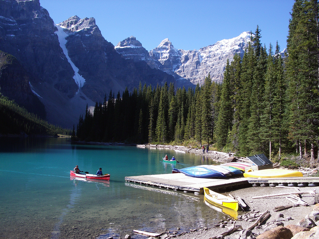 Moraine Lake at Banff National Park | ©Pascal/Flickr
