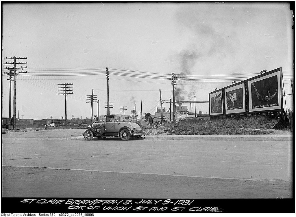 Union Street and St. Clair Avenue, looking south | © Toronto History/Flickr