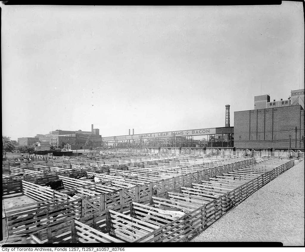 Canada Packers stock yards, south-west corner of Keele Street and St. Clair Avenue West | © Toronto History/Flickr