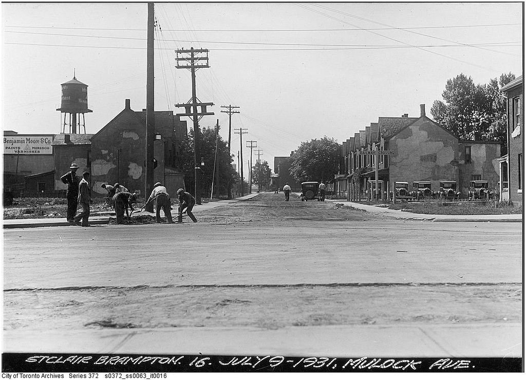 Mulock Avenue looking south from St. Clair Avenue West | © Toronto History/Flickr