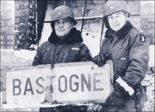 Anthony C. McAuliffe, left, and_then-Col. Harry W.O. Kinnard II at Bastogne | Wikipedia