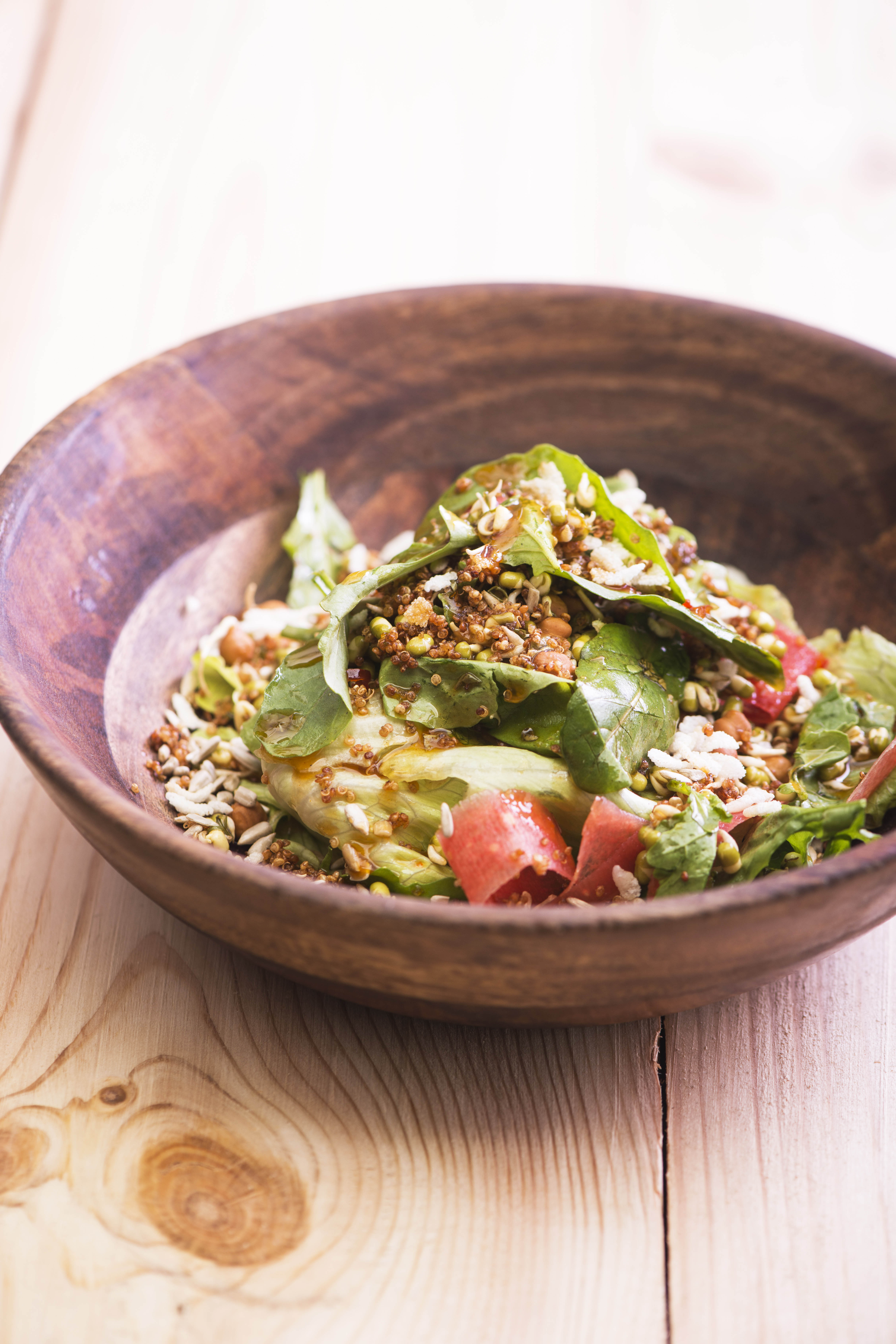 Bean Sprout Salad with Brown Rice Flakes & Crispy Quinoa/©Smoke House Deli