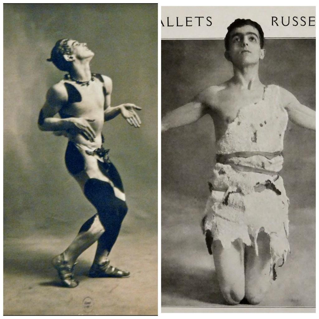 Left: Vaslav Nijinsky in 1912's L'Après-midi d'un faune | © Jean-Pierre Dalbéra/Flickr Right: Léonide Massine in 1914's La Légende de Joseph | ©Wikipedia Commons