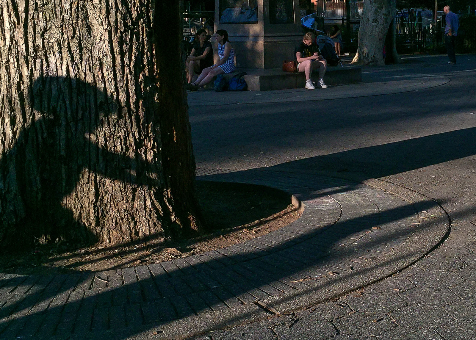 Brooklyn Street Scenes - Shadow of Boy on a Bike, Carroll Park, Brooklyn| © Steven Pisano/flickr