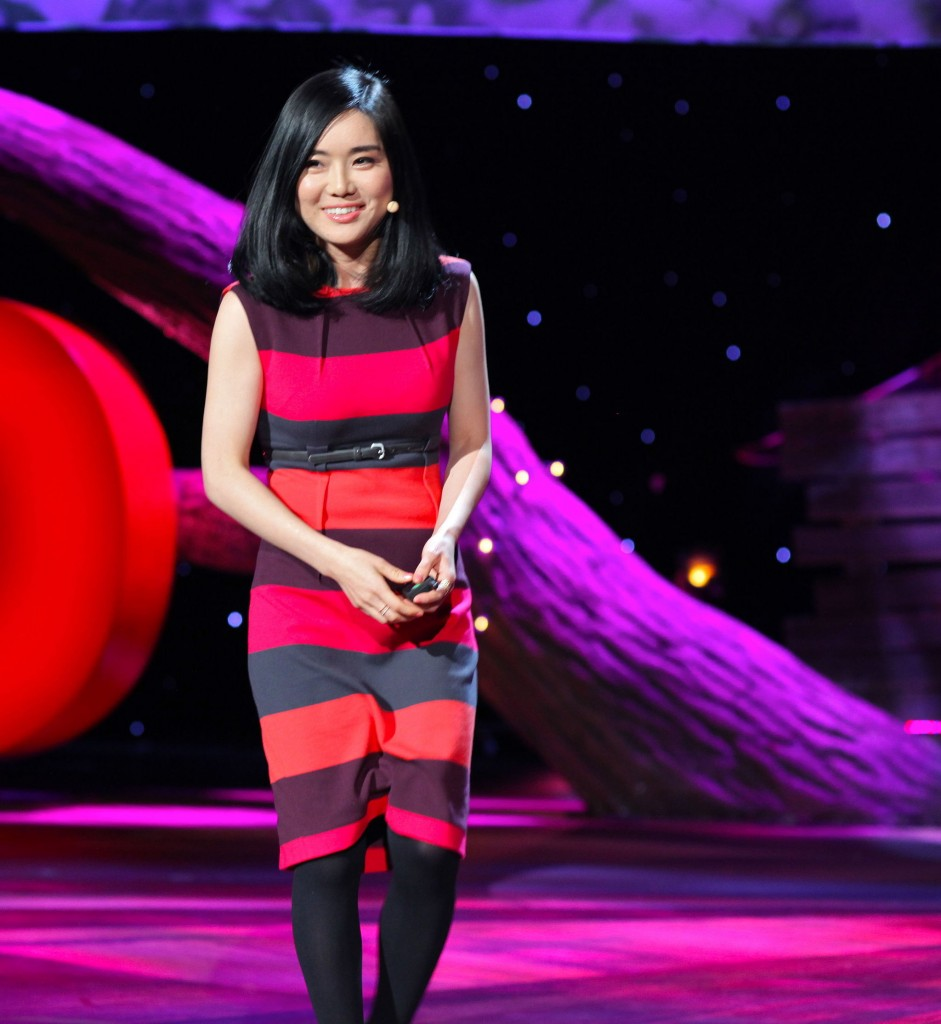 Hyeonseo Lee during a TED talk | © Steve Jurvetson/WikiCommons