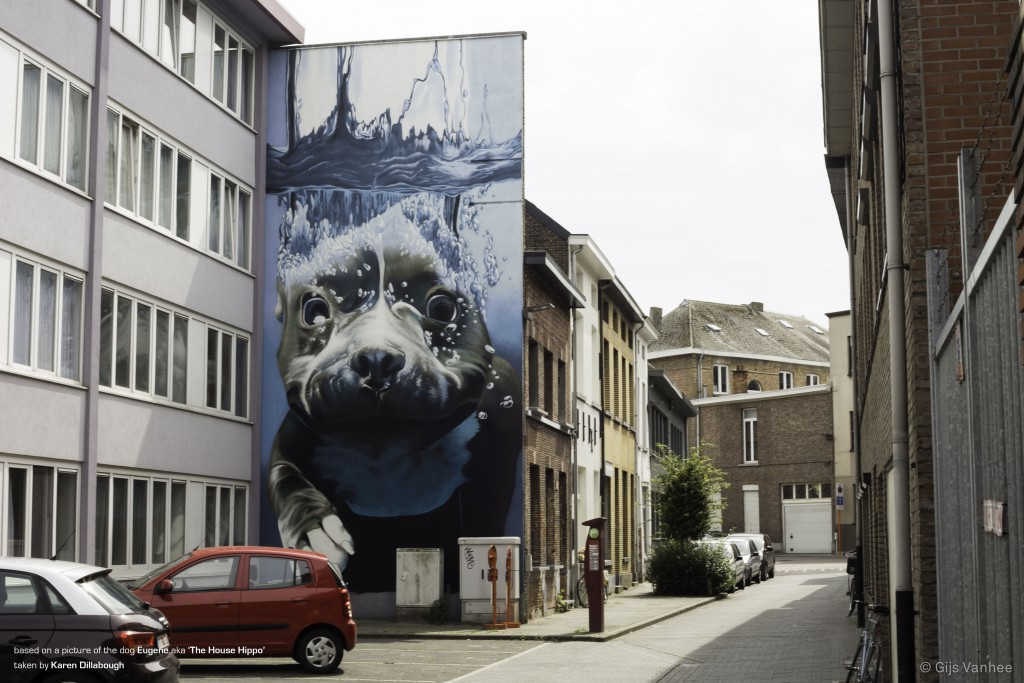 Diving Dog Mural |© Karen Dillabough